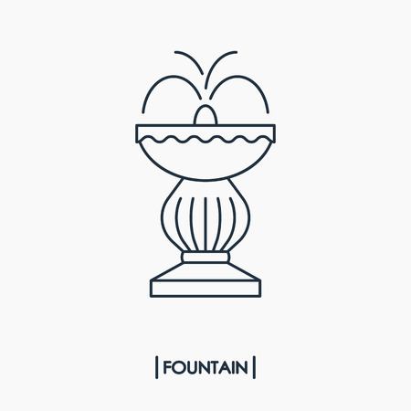 Outline fountain icon isolated
