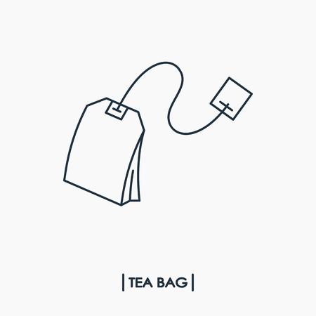 Tea bag outline icon Vector illustration.