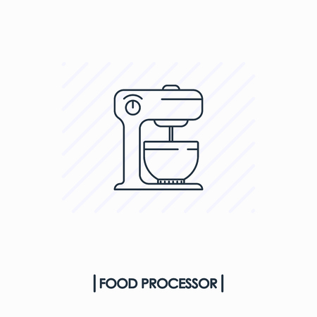 Food processor outline icon isolated