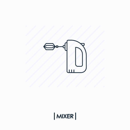Mixer outline icon isolated