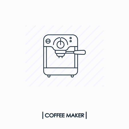 Coffee maker outline icon isolated Иллюстрация
