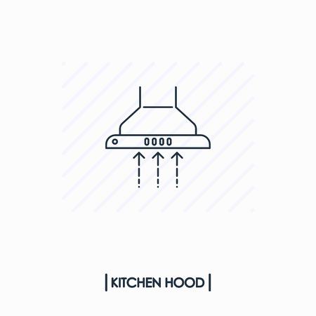 Kithen hood outline icon isolated Иллюстрация