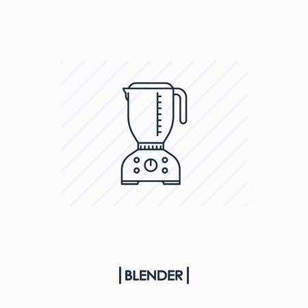 Blender outline icon isolated Иллюстрация