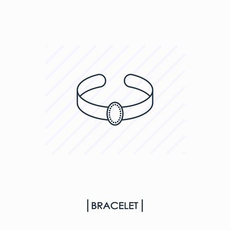 Bracelet outline icon isolated Ilustracja