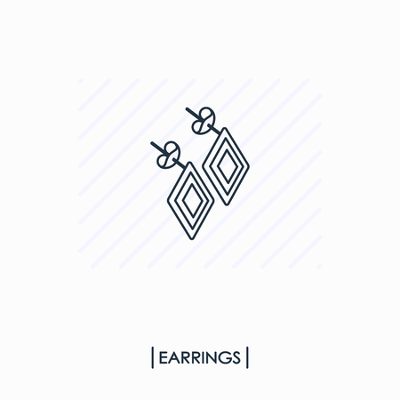 Earrings outline icon isolated