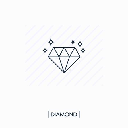 Diamond outline icon isolated