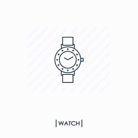 Watch outline icon isolated