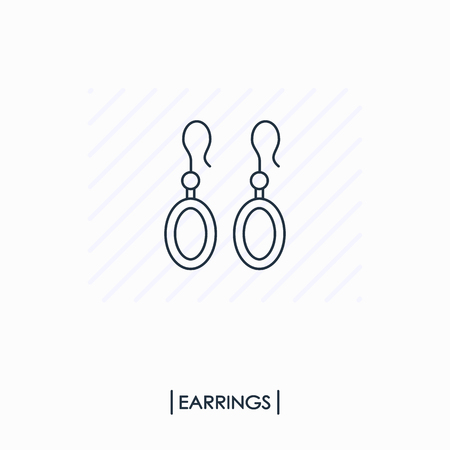 Earrings ourline icon isolated Ilustracja