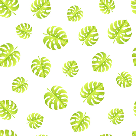 Tropical leaves seamless pattern