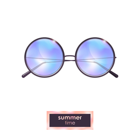 Summer sunglasses with colorful gradient Ilustracja