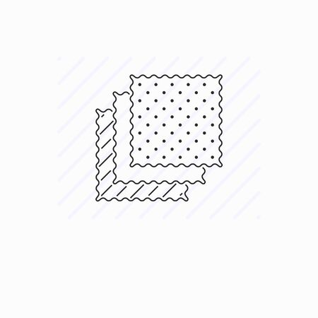 Simple fabric samples vector line icon. Textile swatch Ilustracja