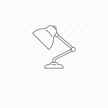 Simple table lamp icon isolated
