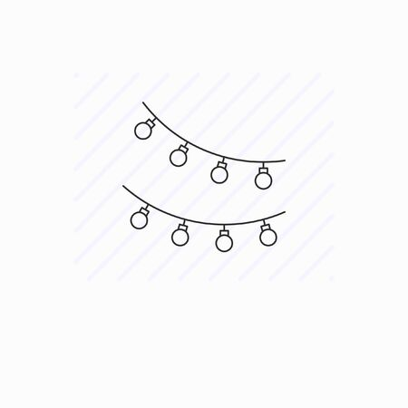 Simple garland line icon isolated