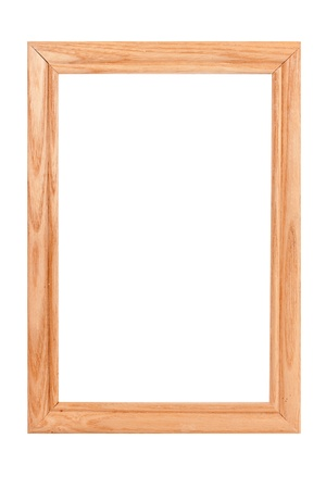 wood frame isolated on white background Stock Photo - 13260019