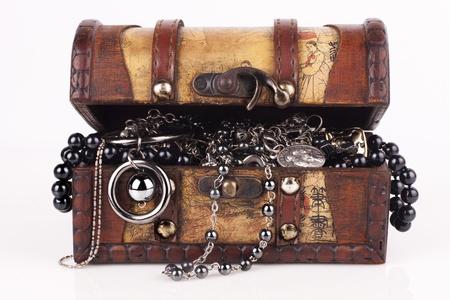treasure box: Treasure chest isolated on white background