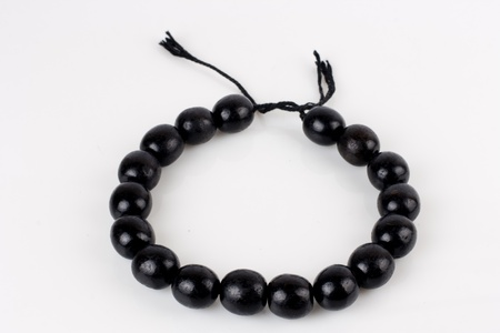 round black beads on white background Stock Photo - 13263968