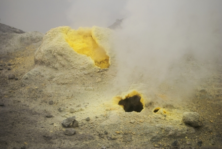 vents:  Volcanic vents with smoke, sulfur and ash  Located on Kamchatka