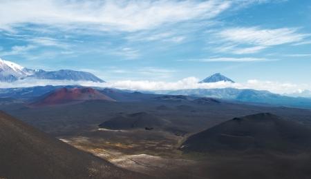kamchatka: volcanic landscape on Kamchatka, Russia Stock Photo