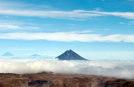 volcano landscape on Kamchatka photo