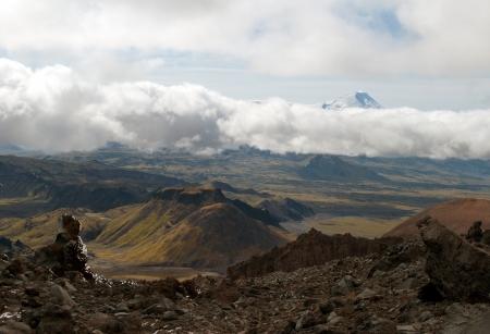 wild landscape on Kamchatka Standard-Bild