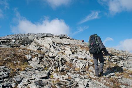 Urak、ロシア山でのハイキング