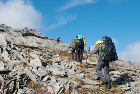 hiking in the mountains, Urak, Russia Standard-Bild