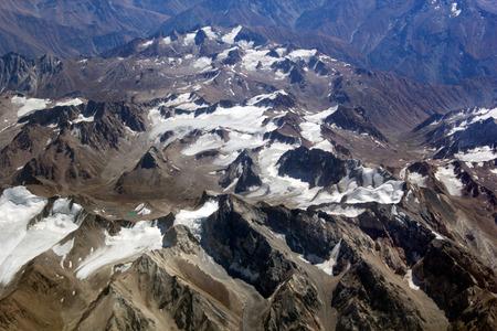 Cresta vista a volo d'uccello, l'Asia centrale Archivio Fotografico - 38349334