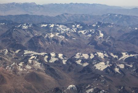 ridge birds-eye view, Central Asia Stock Photo