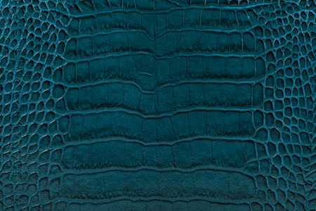cracklier: dark turquoise color embossed leather background texture Stock Photo