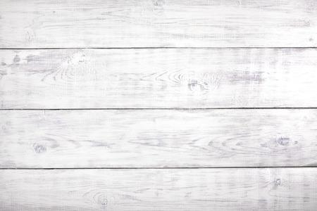 古いホワイトバックグラウンド素朴な木材、コピー領域と木製の表面