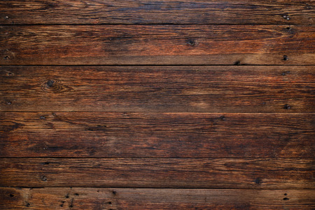 rustic food: Old rustic red wood background, wooden surface with copy space