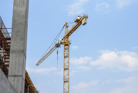 heavy industry: Johannesburg , South Africa - September 09 , 2017 : Construction cranes against a blue sky