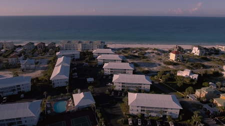 Coast Ocean Aerial view of the Florida Beach Banque d'images
