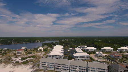 Aerial view of the Florida Beach Hotels Banque d'images