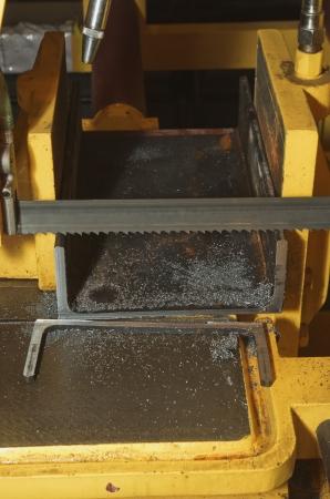 cutting steel machine in a factory