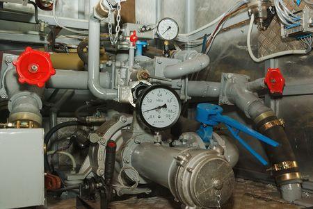 pumper: Complex pumping and valve controls on a pumper firetruck.