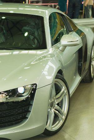Modern Silver Super Sports Car photo
