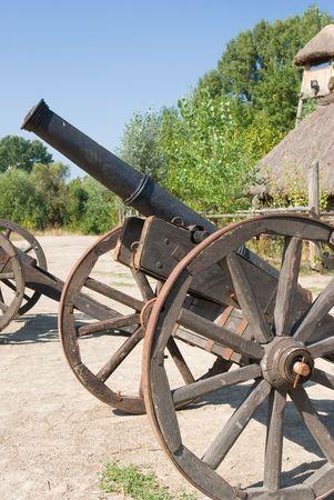 the cossacks: campo ca��n del antiguo cosaco  Foto de archivo