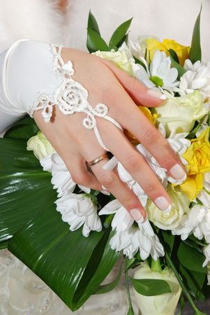 Bride with her new ring Stock Photo - 5984758