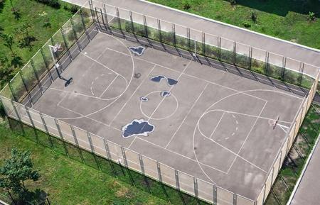 sport ground in the schoolyard photo