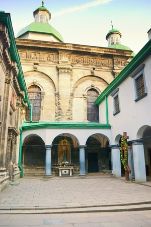 inside a church courtyard in Lviv. Ukraine Stock Photo - 11240830