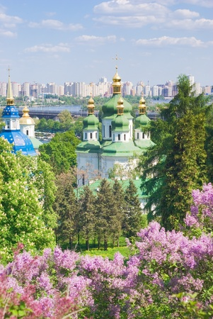 dnieper: Iconic image of Kiev, Ukraine - ancient and modern architecture