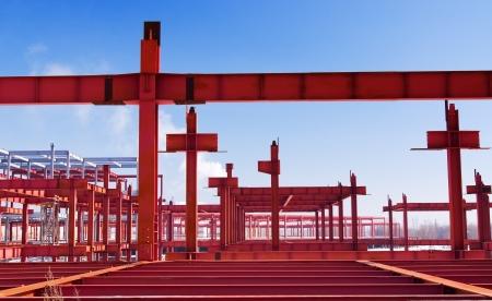 metallic frame of the future building Standard-Bild