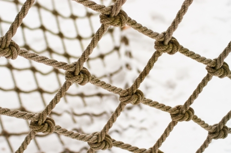bonding rope: The nodes of the old woven mesh