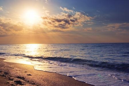 Early morning sunrise over the sea