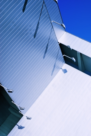 sheathing: The walls are covered with metal panels Stock Photo