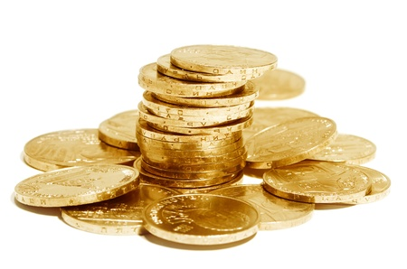 mucho dinero: Monedas conmemorativas Antiguo de la Unión Soviética Foto de archivo