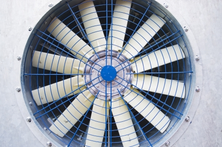 The old big industrial fan  photo