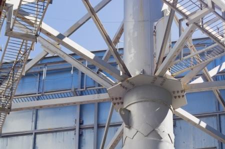 girders: Detail of steel girders and rivets