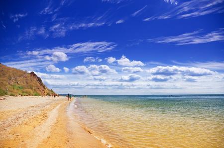 Seashore on a hot sunny day